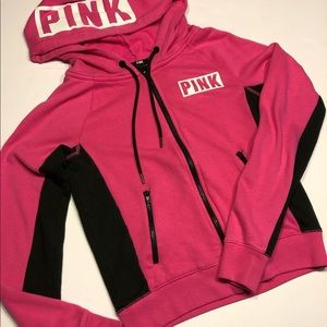 VS Pink Zipper hoodie- Xs